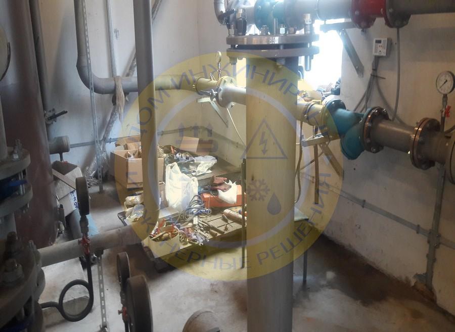 Монтаж системы молниезащиты для автономного источника теплоснабжения (Фото 1).
