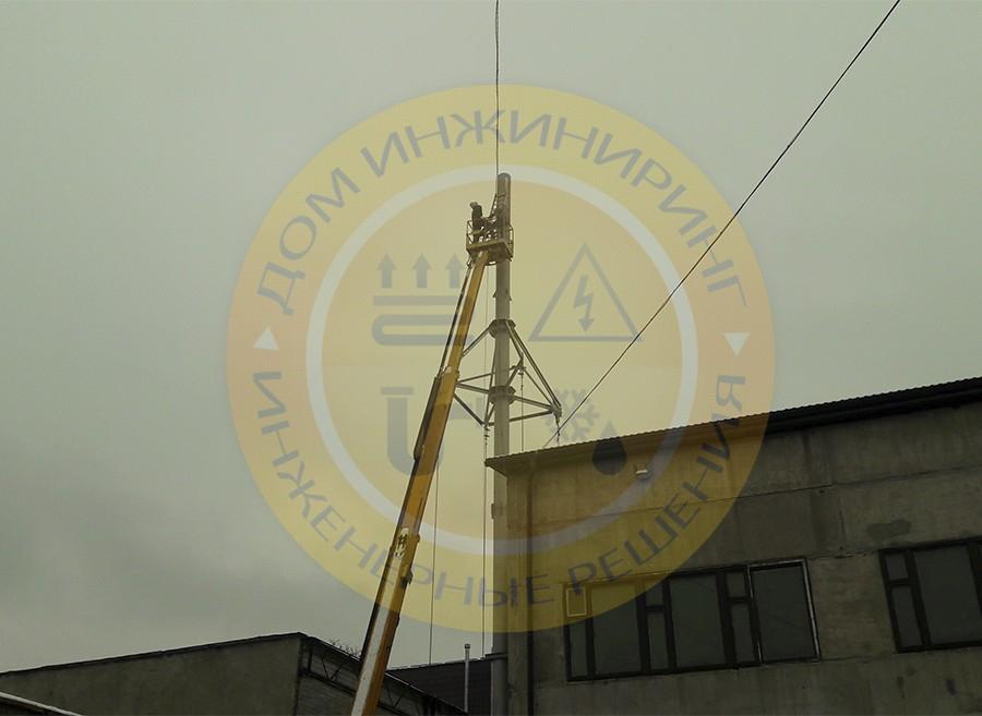 Молниезащита котельной в городе Киеве по ул. Васильковской (Фото 1).