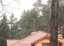 Активная молниезащита на крыше дома