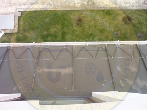 Антиобледенение, установка на крыше