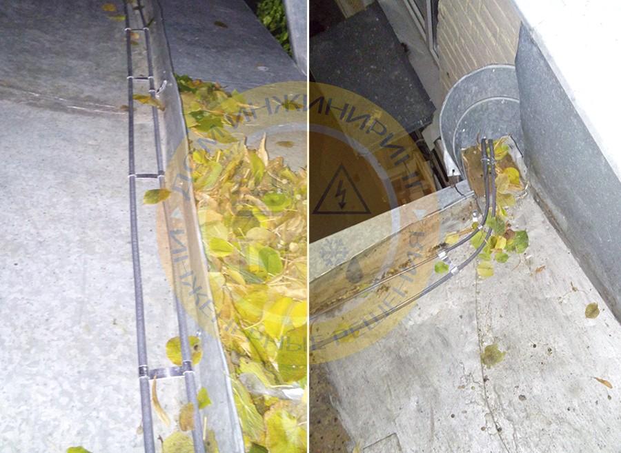 Установка системы снеготаяния и антиобледенения крыши и водостоков
