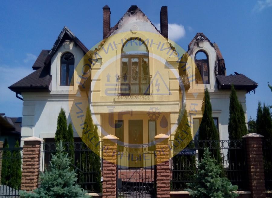 Последствия попадания молнии в дом