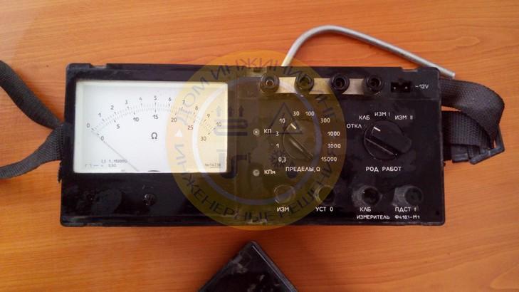 Измерительный прибор сопротивления заземления Ф4103-М1